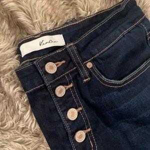KanCan Jeans Joy-Indigo Button Fly Skinny